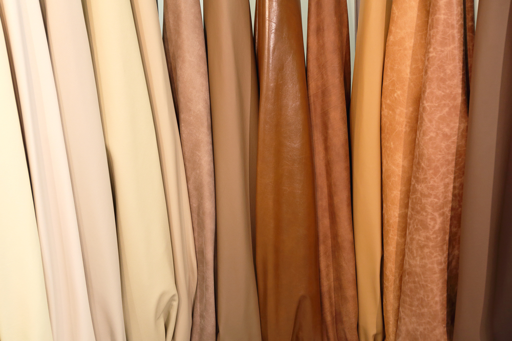 Genuine Leather Hide in Beige and Brown Colors