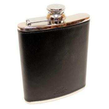 6oz-leather-hip-flask-black
