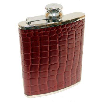 6oz-leather-hip-flask-burgundy-nile-croc