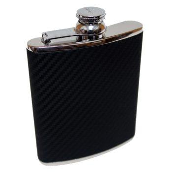 6oz-leather-hip-flask-carbon-fibre-black