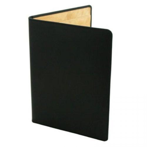 Black Leather Conference Folder