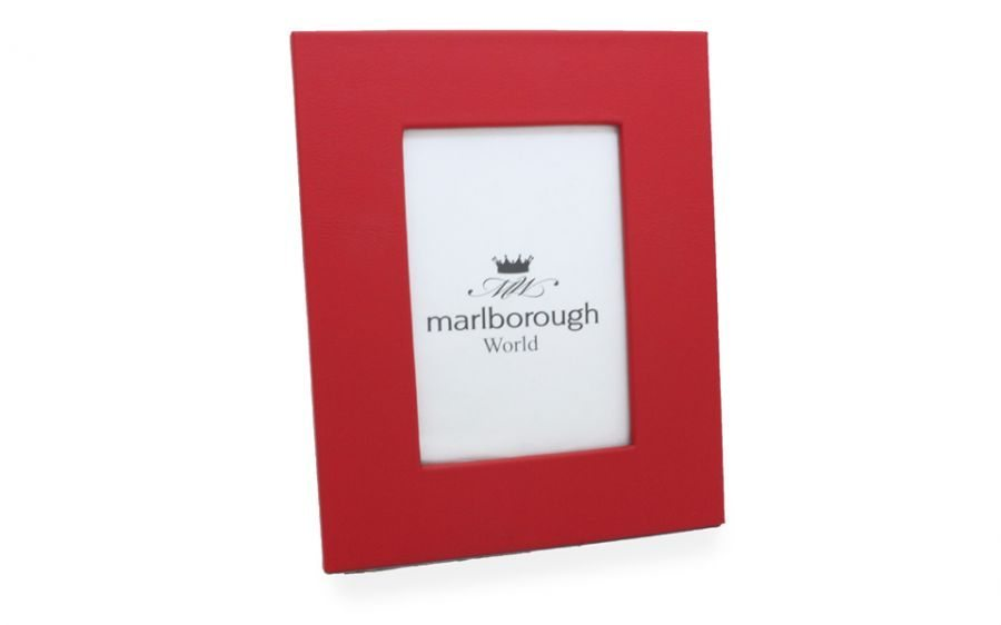 Red 7x5 Leather Photo Frame - Marlborough of England