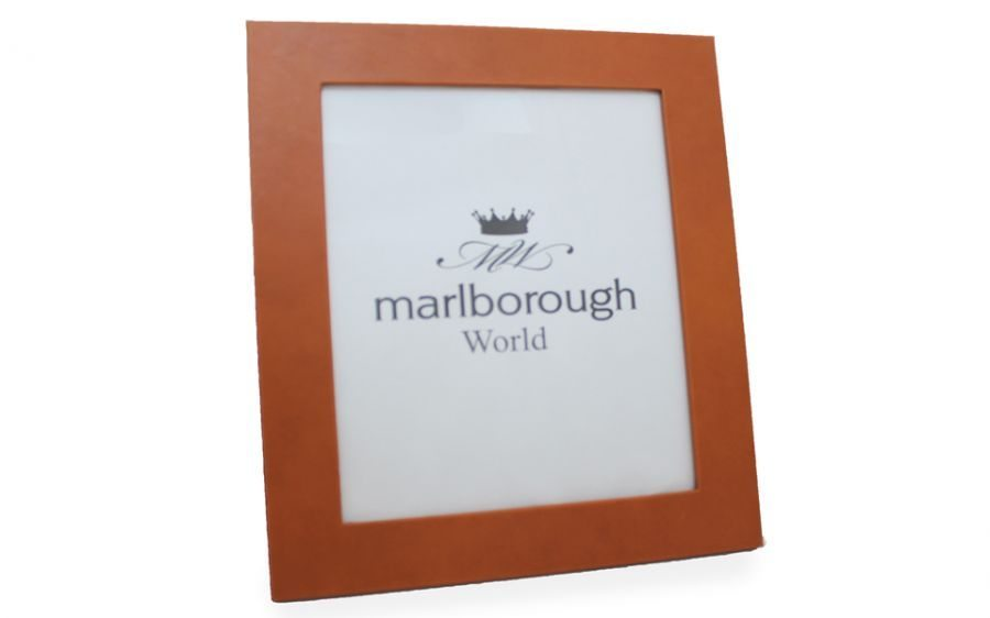 Tan 10x8 Leather Photo Frame - Marlborough of England