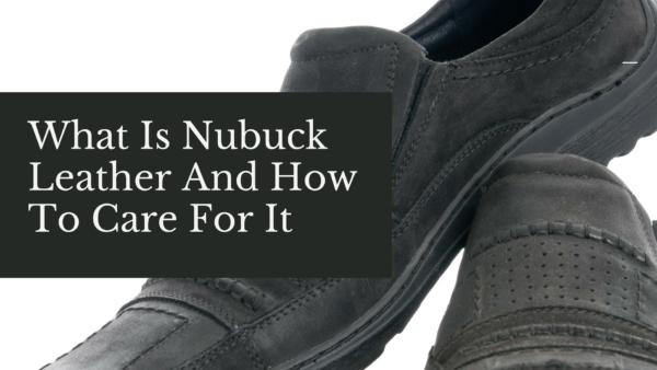 Nubuck leather shoes