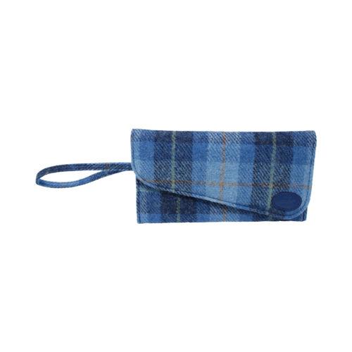 Harris Tweed Blue Clutch Bag