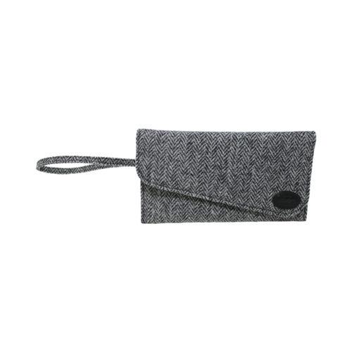Harris Tweed Black Clutch Bag