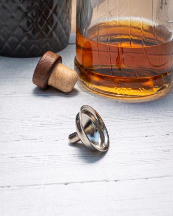 Handmade Solid Brass Hip Flask Funnel - Marlborough Of England