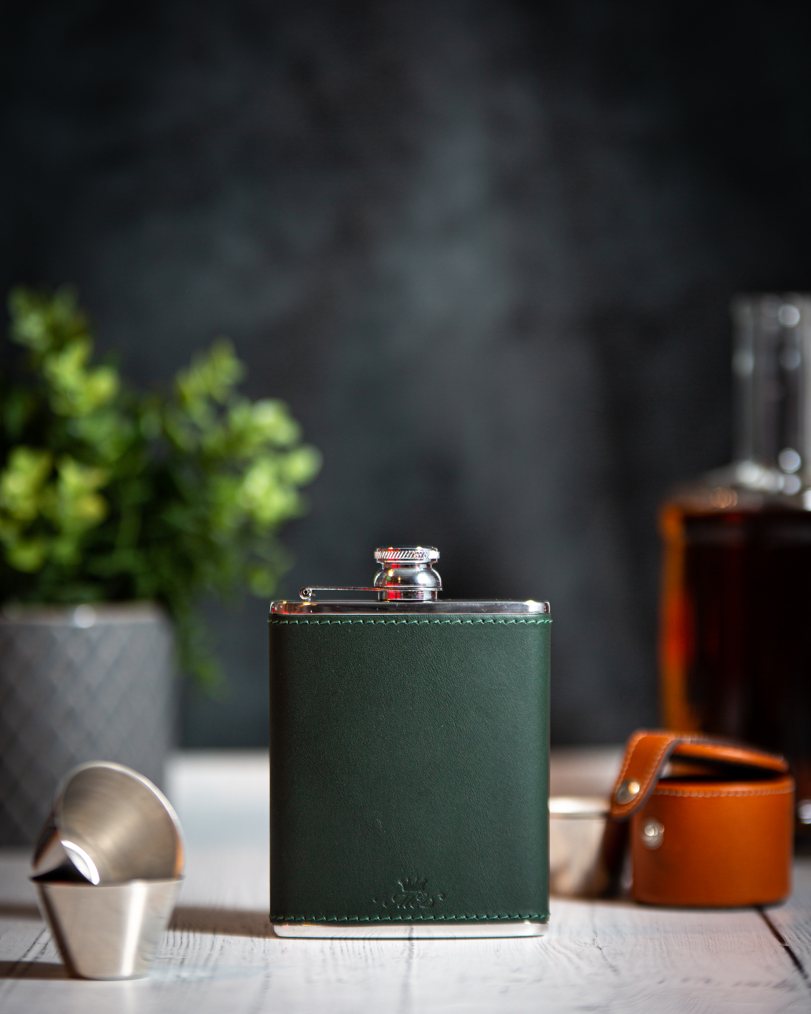 Hand Made Leather Hip Flasks - Marlborough Of England